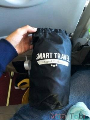 飛行機 フットレスト 足置き エアー クッション 抱き枕 トラベルグッズ SmartTravel