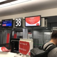 関空 ハワイ AirAsia エアアジア ホノルル チェックイン