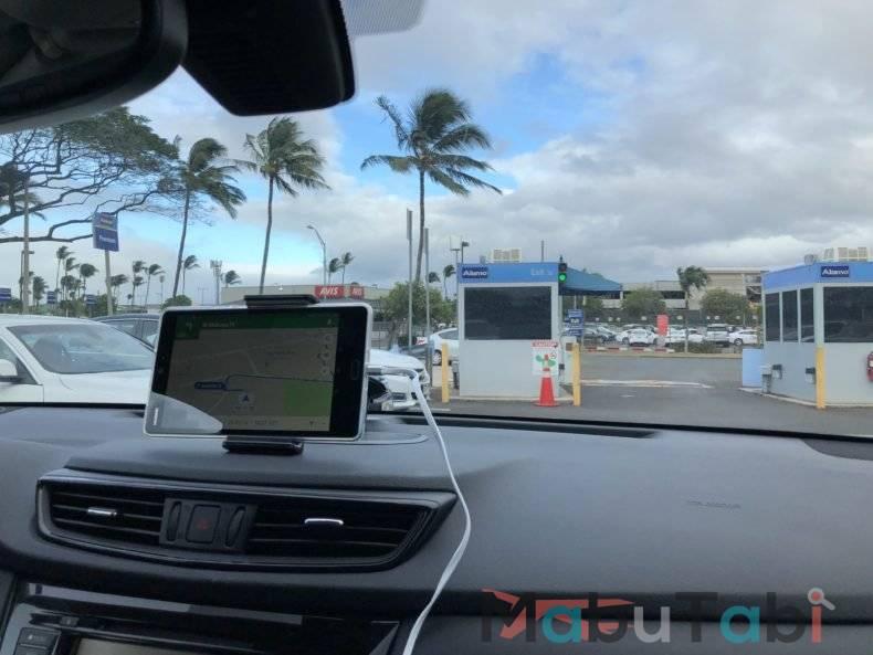 カフルイ空港 レンタカー OGG  Alamo ハワイ マウイ島 アラモレンタカー アラモセレクト カーナビ googlemap